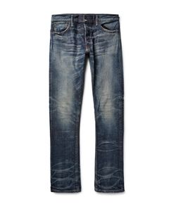 Fabric-Brand & Co | Ali Slim-Fit Washed Selvedge Denim Jeans Blue