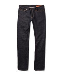 JEAN SHOP | Mick Slim-Fit Rinsed Selvedge Denim Jeans Blue