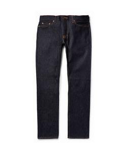 JEAN SHOP | Mick Slim-Fit Raw Selvedge Denim Jeans Blue