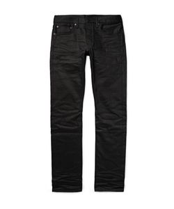 Fabric-Brand & Co | Zack Slim-Fit Selvedge Denim Jeans Black
