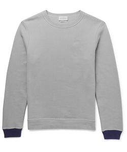 Oliver Spencer Loungewear | Contrast-Trimmed Cotton And Cashmere-Blend Sweatshirt Gray