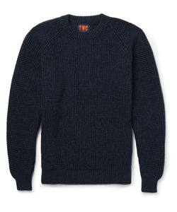 The Workers Club | Merino Wool Sweater Blue