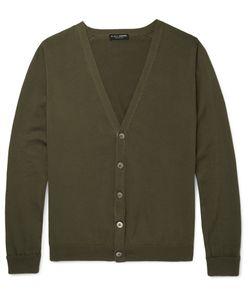 Marvy Jamoke | Beams Slim-Fit Cotton Cardigan Green