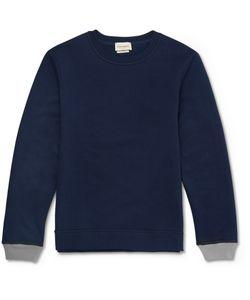 Oliver Spencer Loungewear | Fleece-Back Cotton And Cashmere-Blend Jersey Sweatshirt Blue