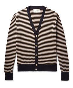 Gucci | Striped Cotton And Cashmere-Blend Cardigan Blue
