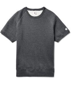 Todd Snyder + Champion | Mélange Fleece-Back Cotton-Blend Jersey Sweatshirt Gray
