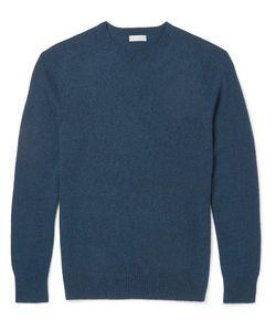 MARGARET HOWELL | Mélange Cotton And Cashmere-Blend Sweater Blue