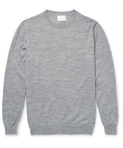 Handvaerk | Slim-Fit Alpaca And Silk-Blend Sweater Gray