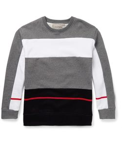 CASELY-HAYFORD | Mayweather Colour-Block Cotton-Blend Sweatshirt Gray