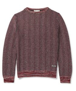 Gucci | Textured-Knit Cotton Sweater Red