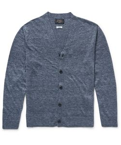 Beams Plus | Slub Linen Cardigan Blue