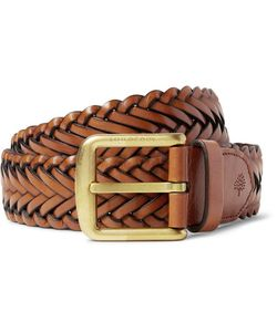 Mulberry | 4cm Brown Braided Leather Belt Brown