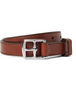 Yuketen | 2.5cm Brown Leather Belt Brown