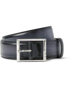 BERLUTI | 3.5cm Black Polished-Leather Belt Black