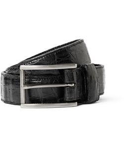 Santiago Gonzalez | 3cm Black Crocodile Belt Black