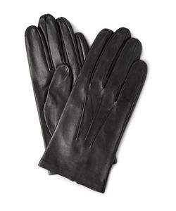DENTS | Keswick Silk-Lined Leather Gloves Black