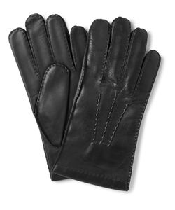 DENTS | Shaftesbury Touchscreen Cashmere-Lined Leather Gloves Black