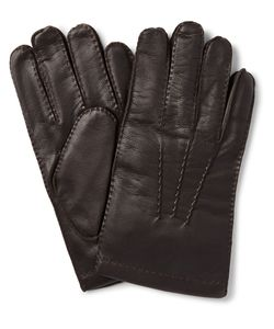 DENTS | Shaftesbury Touchscreen Cashmere-Lined Leather Gloves Brown