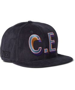 CAV EMPT | Embroidered Corduroy Baseball Cap Blue