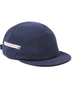 Larose | Five-Panel Zip-Detailed Cotton Cap Blue