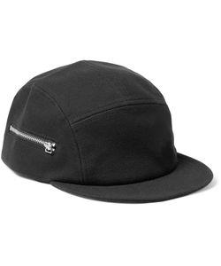 Larose | Five-Panel Zip-Detailed Cotton Cap Black