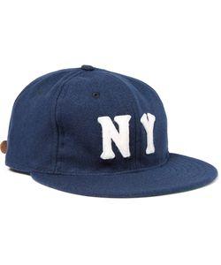EBBETS FIELD FLANNELS | New York Black Yankees 1936 Wool-Broadcloth Baseball Cap Blue
