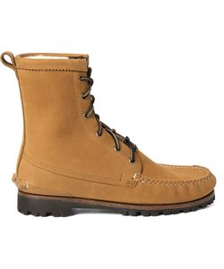 Quoddy | Grizzly Shearling-Lined Chamois Nubuck Boots Brown