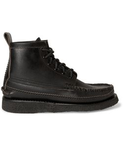 Yuketen | Maine Guide 6-Eye Waxed-Leather Boots Black