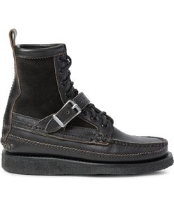 Yuketen | Maine Guide Db Suede-Panelled Leather Boots Black