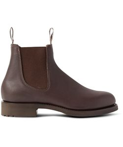 R.M. Williams | Gardener Whole-Cut Leather Chelsea Boots Brown