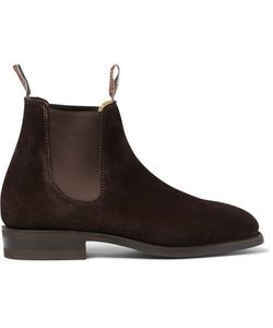 R.M. Williams | Comfort Craftsman Suede Chelsea Boots Brown