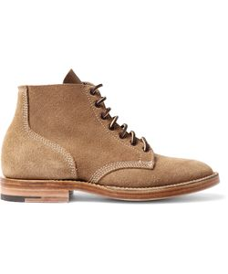 Viberg | Boondocker Suede Lace-Up Boots Brown