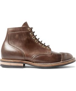 Viberg | Leather Service Boots Brown