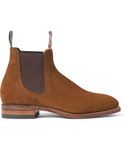 R.M. Williams | Suede Chelsea Boots Brown
