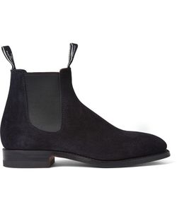 R.M. Williams | Suede Chelsea Boots Blue