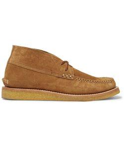 Yuketen | Suede Wedge Desert Boots Brown