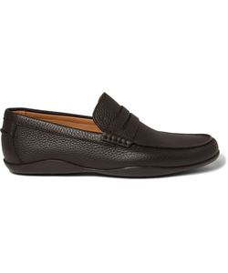 Harrys Of London | Basel 4 Grained-Leather Penny Loafers Brown
