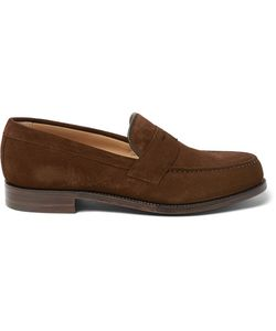 CHEANEY | Hudson Suede Penny Loafers Brown