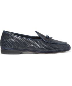 RUBINACCI | Marphy Woven Leather Loafers Blue