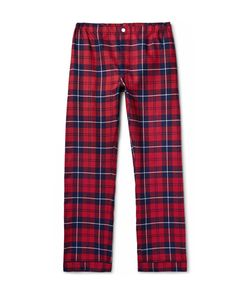 Sleepy Jones   Marcel Checked Cotton-Flannel Pyjama Trousers Red