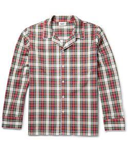Sleepy Jones   Henry Checked Cotton Pyjama Shirt Red