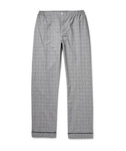 Sleepy Jones   Marcel Glen-Plaid Checked Cotton Pyjama Trousers Gray