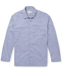 Oliver Spencer Loungewear | Cotton Oxford Pyjama Shirt Blue