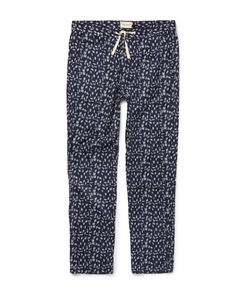 Oliver Spencer Loungewear | Printed Stretch-Cotton Pyjama Trousers Blue