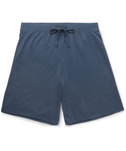 Handvaerk | Pima Cotton-Jersey Pyjama Shorts Blue