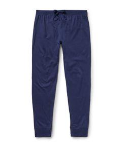 Handvaerk | Slim-Fit Tapered Pima Cotton Pyjama Trousers Blue
