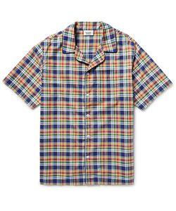 Sleepy Jones   Henry Madras-Checked Cotton Pyjama Shirt Blue