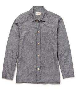 Oliver Spencer Loungewear | Striped Cotton Pyjama Shirt Blue