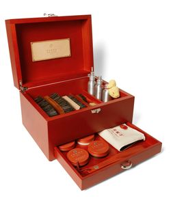 TURMS | Complete Shoe Care Kit With Wood Case Burgundy