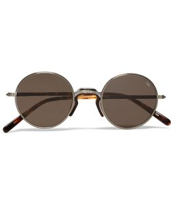 Eyevan | Round-Frame Metal And Tortoiseshell Acetate Sunglasses Silver